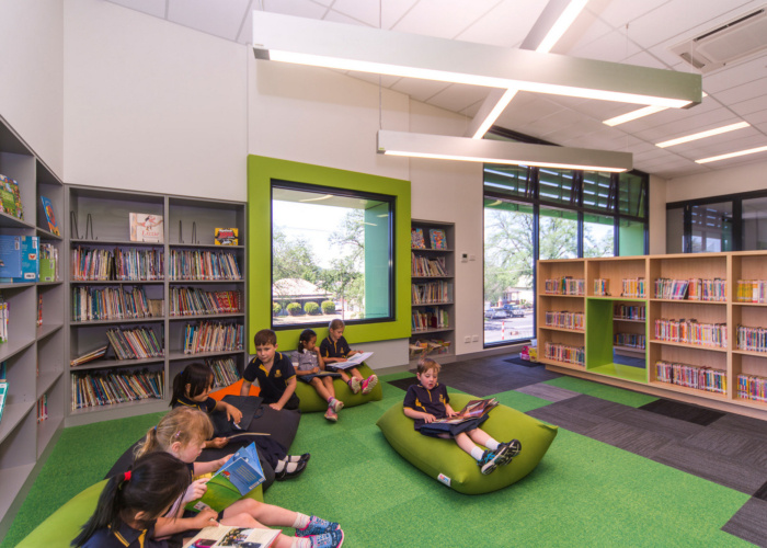 elementary library reading lounge