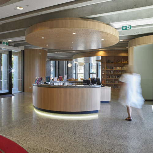 recent IONA College Information Resource Centre healthcase design projects